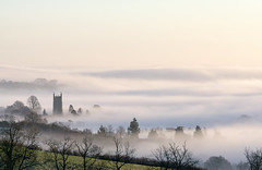 Foggy Cotswolds (jactoll) Tags: chippingcampden gloucestershire cotswolds church tower fog foggy mist misty landscape winter sony a6000 zeiss 70200mmf4 jactoll