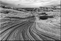 Stone lines (funtor) Tags: stone lines landscape usa southwest pattern bw art arizona curve line mono rock wave unique