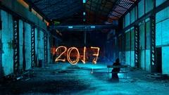 CHALLENGE ACCEPTED! (palateth) Tags: lightpainting lightart night belgique belgie belgium nophotoshop singleexposure blue industrial urbex abandonnedplace death terrypratchett 2017 newyearwishes