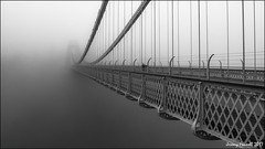 Suspended in mist (zolaczakl ( 2.5 million views, thanks everyone)) Tags: bristol bristolinmonochrome cliftonsuspensionbridge suspensionbridge fog mist mono monochrome blackandwhitebristol blackandwhite sigma1835mmf18dchsmlens nikond7100 2017 january photographybyjeremyfennell uk england southwest