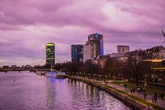 DSC_3836 (alisahager) Tags: frankfurt city ffm mainhattan clouds crazy light main river dasgerippte museum day evening