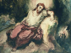 DELACROIX Eugène,1826 - Le Christ au Jardin des Oliviers, Eglise St-Paul-St-Louis, Paris, Etude (drawing, dessin, disegno-Louvre RF23325) - Detail 33 (L'art au présent) Tags: drawing dessins dessin disegno personnage figure figures people personnes art painter peintre details détail détails detalles 19th 19e dessins19e 19thcenturydrawing 19thcentury detailsofdrawing detailsofdrawingdessins croquis étude study sketch sketches tableaux louvre museum eugènedelacroix eugène delacroix france lechristaujardindesoliviers christinthegardenofgethsemane gardenofgethsemane christ jardindesoliviers aquarelle watercour watercolor man men homme romantic romantique romantisme romanticism romance armes weapons soldats soldiers rocher rock nuit night ombre shaddow paris