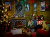 Christmas at the Cabin (MiskatonicNick) Tags: christmas toyville dynamitegirls neve gavin diorama playscale sixthscale 16