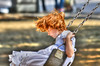 Redhead Swinging (swong95765) Tags: swing bokeh eyes girl park redhead feel fun swinging play playground sensation motion dreaming