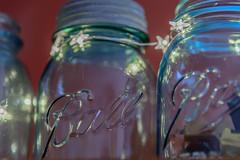 2/365 2017 Edition (Angela D Beck) Tags: jars blue mason ball old antique lights stars bokeh macro dof glass nikon d750 365 project365 day2 blur 2017 edition 3652017 day 2365 2jan17