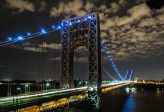 George Washington Bridge (elizabethleidel1) Tags: georgewashingtonbridge nyc ny bridge longexposure architecture night light