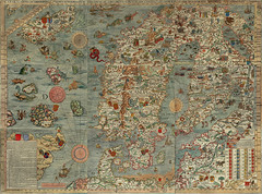Carta Marina (laluzdivinadetusojos) Tags: olaus magnus carta marina map old legends escandinavia north sea arctic