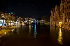 Hochwasser / Floodwaters Part 2 (kornflakezzz) Tags: lübeck luebeck hanse stadt city hansestadt norden north germany deutschland hochwasser trave high waters flood floddwaters obertrave salzspeicher sterne stars nightshot sony alpha a57 sigma