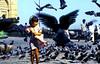 Mumbai, Scared of Pigeons (gerard eder) Tags: world reise travel viajes asia southasia maharashtra mumbai bombay gatewayofindia pigeons child feeding