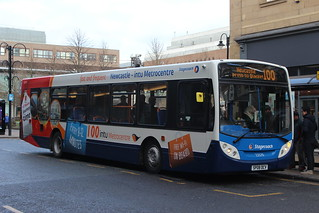 STAGECOACH 22570 SP08DCV IS SEEN IN NEWCASTLE ON 14 JANUARY 2017