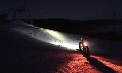 Ready For The Second Descent (collideous) Tags: winter snow fatbike ride 20012017 night slopes bike lights