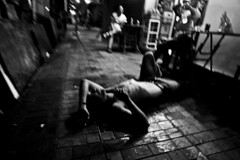 R0062805 (KC KWAN) Tags: streetphotography blackwhite 28mm 21mm hongkong snap people grdiv ricoh cityofdarkness homebound alley kc kwan kckwan interesting interestingness explore explored black darkened dim dingy drab gloomy misty murky overcast shadowy somber
