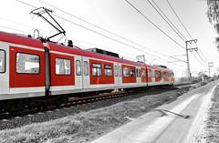 Die Bahn - The Train (Jutta M. Jenning) Tags: reisen zug technik zugfahrt bahn verkehr fahren schiene lok schienen colorkey bahnfahrt schienenverkehr zugverkehr