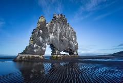 Hvítserkur rock at low tide - Iceland (lucien_photography) Tags: hvítserkur rock iceland islande sea longexposure leefilters blue sky thebigstopper sand beach water outside atlantic 5dmarkiii canon5dmarkiii 1635mm