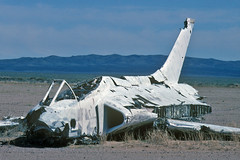 XF4D-1 Skyray BuNo 124586 (skyhawkpc) Tags: skyray 124586 superiorvalleyrange 1996 airfoto f4d1 xf4d1 douglas joecupido copyright chinalake 145072 aircraft airplane derelict military