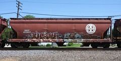 Quest/Yesh (quiet-silence) Tags: railroad art train graffiti railcar graff quest hopper freight bnsf uaa yesh fr8 bnsf403627