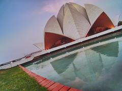 Lotus Temple (Ashmalikphotography) Tags: reflection delhi faith bluesky bahai monuments lotustemple mobilography bahaimandir