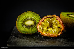 exotic still life (amateur72) Tags: stilllife macro fruits studio fujifilm kiwi fruitdelapassion xt1 xf60mmmacro