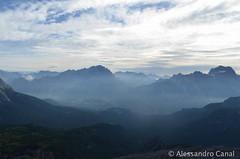 Alba dal rifugio Nuvolau