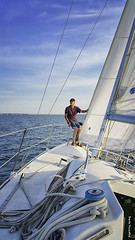 Sailing Lake Sakakawea (Sierragoddess) Tags: lake water sailboat marina fix boat sailing repair restore northdakota garrison mega fortstevenson darlahueske ndlegendary