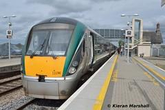 22056 at Portlaoise, 8/8/15 (hurricanemk1c) Tags: irish train rail railway trains railways irishrail rok rotem portlaoise 2015 icr iarnród 22000 22056 éireann iarnródéireann 3pce 1415heustonportlaoise
