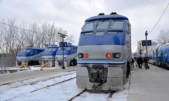 Commuter power (Michael Berry Railfan) Tags: amt agencemétropolitainedetransport commutertrain passengertrain train bombardier montreal westmountsub cp canadianpacific lucienlallierstation emd gmd f59phi amt1323 amt1327 amt1320 amt1325