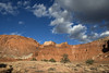 Capitol Reef National Park (Curtis Gregory Perry) Tags: utah capitol reef national park nikon d800e landscape hill mountain sandstone red blue sky tree desert