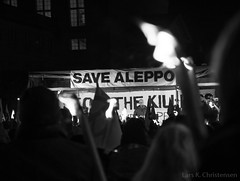 Aleppo solidarity manifestation