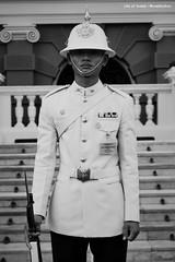 Nothing (Swebbatron) Tags: bangkok thailand travel asia southeastasia grandpalace royal guard blackandwhite mono chakrimahaprasat radlab gettotallyrad lifeofswebb canon 1100d