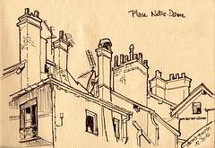 Grenoble - place Notre Dame - 1 (dege.guerin) Tags: grenoble placenotredame toit
