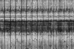 Abstract Wood (Walter Quirtmair) Tags: ifttt 500px wood plank shelve black white water reflection abstract pattern quirtmair