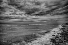 Caspersen BW (DonMiller_ToGo) Tags: beachlife blackandwhitephotography blackwhite florida rock waves caspersenbeach longexposure clouds beaches sky drama outdoors bwphotography bw d810 beachphotography seascapes