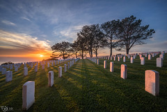 Cabrillo's Winter Sunset (without reservation) Tags: sandiego cabrillo cabrillonationalcemetery sonya7rii sunset sandiegosunset pointloma landscape nature grave clouds fort rosecrans national cemetery memorial