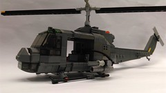 UH-1 C update (Babalas Shipyards) Tags: lego military aircraft helicopter rotors gunship bell uh1 vietnam model moc