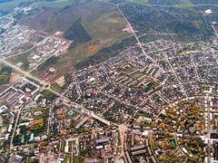 Город Октябрьский с высоты птичьего полёта
