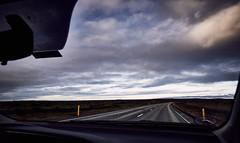 Road to Keflavík (bacon.dumpling) Tags: iceland cloud cloudy landscape nikond750 nopeople nobody onthemove outdoor road scenic sigma24mmf14dghsmart sky vehicleinterior neargrindavík