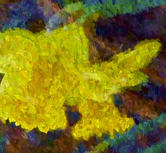 now it Springs forth (Pejasar) Tags: art impressionistic paint yellow bright vibrant color spring change