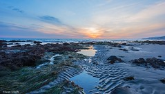 A quiet moment at low tide and best wishes for the New Year! (Photosuze) Tags: landscape ocean sunset tidepools california malibu clouds sky pacific reflection