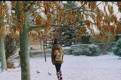(polikarya) Tags: snow winter girl outdoor zenit analogue filmisnotdead odtu ankara turkey campus fln işte nature