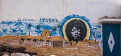 La  caravane d Hendrix (1 of 1) (Jan Herremans) Tags: africa morocco essaouira graffiti janherremans café bar camels desert t
