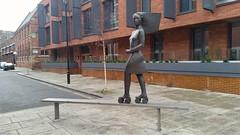 Roller Skater - Vauxhall Bridge Road (sarflondondunc) Tags: vauxhallbridgeroad moretonstreet pimlico london statue andrewallace rollerskater