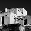 Taos Pueblo No. 2 (Mabry Campbell) Tags: 2016 december h5d50c hasselblad mabrycampbell newmexico santafe taos taospueblo usa unitedstatesofamerica adobe architecture blackandwhite building commercialphotography fineart fineartphotography historic image nativeamerican old photo photograph photographer photography pueblo squarecrop f56 december272016 20161227campbellb0001183 80mm ¹⁄₈₀₀sec 100 hc80