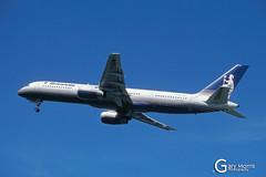 G-BYAU Boeing 757 204 (Gary J Morris) Tags: eggd brs by bal bristol airport lulsgate garymorris airlines boeing 757 gbyau 204 britannia airways 13062001 27220 airline
