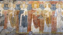 Greek saints (left aisle), c. 757-767, Santa Maria Antiqua, Rome