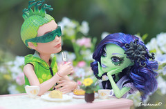 Oh, Deuce ...You're the man of my dreams. || Monster High || (Deuce Gorgon & Amanita Nightshade) (PruchanunR.) Tags: monster hight doll deuce amanita nightshade gorgon