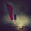 Down deep (Linda Kristiansen Photography) Tags: fineartphotography fairytale surrealism selfportraiture underwater red keys conseptual