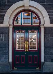 Dunedin Railway Station Door (deltics) Tags: trainstation dunedin nz doors buildings hdr railplatforms southisland newzealand otago