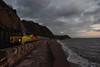 Sand and Cement (Teignstu) Tags: teignmouth devon seawall railway freight colas class70 70802 6c35 cement sea sand beach