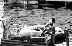 Flood play (A. Yousuf Kurniawan) Tags: people kid play sport water watercourse joy flood river riverside riverbank enjoy monochrome blackandwhite streetphotography streetphoto face expression dailylife