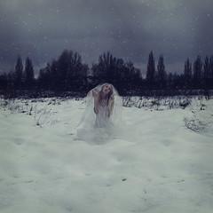 ghost? (foteinizaglara) Tags: ghost snow snowing fine art conceptual photography tutu ©foteinizaglara cold dark white trees melancholy selfportrait